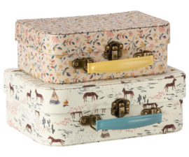 Maileg Koffertjes Suitcase with Fabric (set van 2)