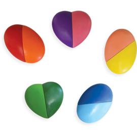 Ooly Waskrijt I Heart Art Crayons - Set van 6