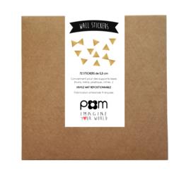 Pom Muurstickers - Driehoekjes (goud)
