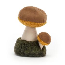 Jellycat Wild Nature Mushroom Boletus - Knuffel Paddenstoel (15 cm)