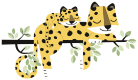 Lilipinso Hide and Seek Muursticker XL - Leopard Family