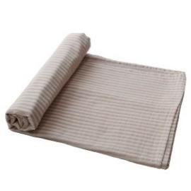 Mushie Hydrofiele Doek XL Swaddle - Natural Stripes
