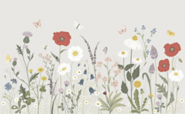 Lilipinso Countryside Behang Paneel - Wildflowers (400 x 248 cm)
