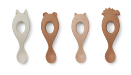 Liewood Liva Silicone Spoon Lepelset -  Rose Mix (set van 4)