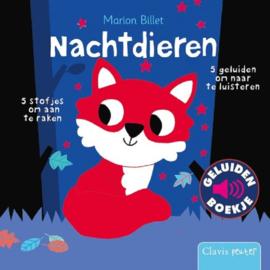 Uitgeverij Clavis Geluidenboekje - Nachtdieren +1jr