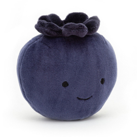 Jellycat Fabulous Fruit Blueberry - Knuffel Blauwe Bes (10 cm)