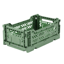 AyKasa Folding Crate Mini Box - Almond Green