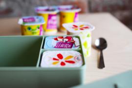 Blafre Lunchtrommel Bloemen - Rood/Roze