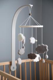 Sebra Babymobiel Wolken - Grijs (Warm Grey)
