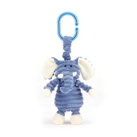 Jellycat Cordy Roy Baby Elephant - Vibrerende Babyspeeltje Baby Olifant