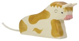 Holztiger Stier (bruin) - Liggend (80008)
