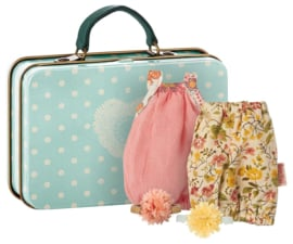 Maileg Micro Suitcase with 2 sets of clothes