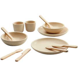 Plantoys Houten Tafelgerei - Naturel