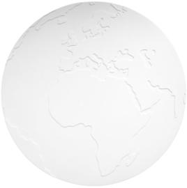 KG Design Placemat Atlas Wereldbol - Wit