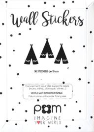 Pom Muurstickers - Tipi (zwart)