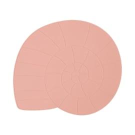 OYOY Placemat Nautilus Schelp - Coral