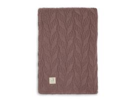 Jollein Deken Wieg Spring Knit - Chestnut Coral Fleece (75 x 100 cm)