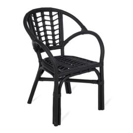KidsDepot Kinderstoel Ayo Rotan - Zwart