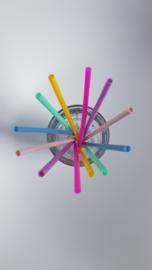KG Design Siliconen Rietjes  - Mix Roze (set 6)