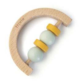 Trixie Houten Rammelaar Halve Cirkel - Mint Yellow
