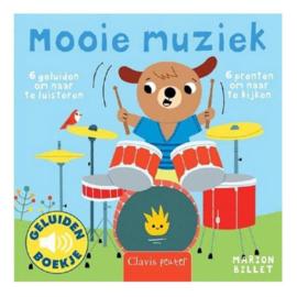 Uitgeverij Clavis Geluidenboekje - Mooie Muziek +1jr
