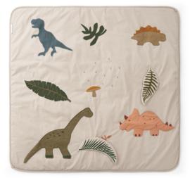 Liewood Glenn Activity Blanket Speelkleed - Dino Dark Sandy Mix
