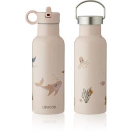 Liewood Neo Waterbottle Drinkfles - Sea Creature Rose Mix (500ml)