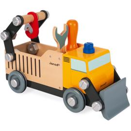 Janod Brico Kids Vrachtwagen Wegwerker +3jr
