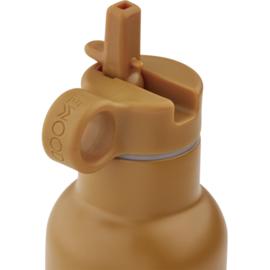 Liewood Anker Waterbottle Drinkfles - Cat Mustard (350ml)