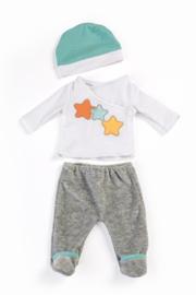 Miniland Pyjama wit en grijs - (40 cm)