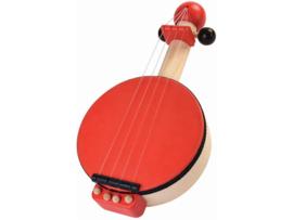 Plantoys Houten Banjo - Rood