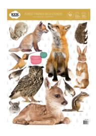 Kek Amsterdam Muursticker - Forest Friends set 1 (set van 12) (MS-306)