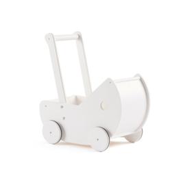 Kids Concept Houten Poppenwagen - Wit