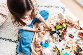 Play and Go Speelgoedkleed en opbergzak - Geo Mosterd Geel