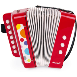 Janod Confetti - Accordeon Rood