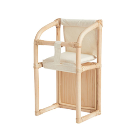 Olli Ella Dinkum Doll Rattan High Chair - Hoge Poppenstoel