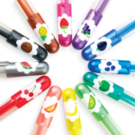 Ooly Gelpennen Glitter en Geur Yummy Yummy Gel Pens - 12 kleuren