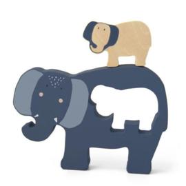 Trixie Houten Babypuzzel - Mrs. Elephant