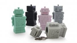 KG Design Spaarpot Robot - Licht grijs