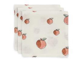 Jollein Monddoekjes Hydrofiel - Peach (set van 3)