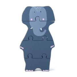 Trixie Houten Dieren Puzzel - Mrs. Elephant