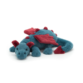 Jellycat Dexter Dragon Medium - Knuffel Draak (50 cm)