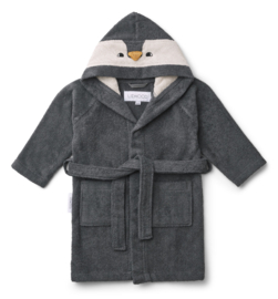 Liewood Lily Badjas Pinguin - Penguin Stone Grey (3 - 4 jaar)