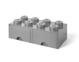 Lego Opbergbox met lade Brick 8 - Grijs