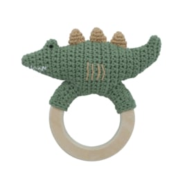 Sebra Crochet Rattle Rammelaar - Ali the Alligator