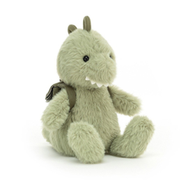 Jellycat Backpack Dino - Knuffel Dino met Rugzak (24 cm)