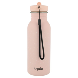 Trixie Drinkfles RVS Mrs. Rabbit - Licht Roze (500 ml)