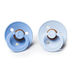 BIBS fopspenen Duoverpakking 6 - 18 maand - Sky Blue + Baby Blue