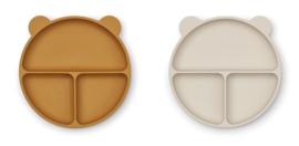 Liewood Siliconen Bord Merrick Divider - Golden Caramel Sandy Mix (set van 2)
