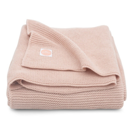 Jollein Gebreide Ledikantdeken Basic Knit - Pale Pink (100 x 150 cm)